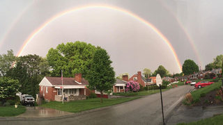 PHOTOS: Rainbows emerge after storms move through area