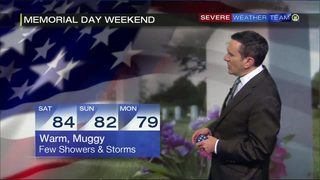 Memorial Day weekend forecast (5/22/18)