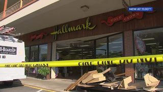 Car crashes into card store in Castle Shannon