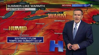 Summer temperatures push in today, last through weekend (5/24/18)