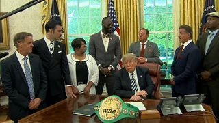 President Donald Trump grants pardon to late boxer Jack Johnson