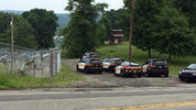 Police surround a home in Plum. (Photo by Ryan Minutello/WPXI)