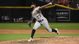 PHOENIX, AZ - JUNE 13: Felipe Vazquez #73 of the Pittsburgh Pirates delivers a ninth inning pitch against the Arizona Diamondbacks at Chase Field on June 13, 2018 in Phoenix, Arizona. Pirates won 5-4. (Photo by Norm Hall/Getty Images)