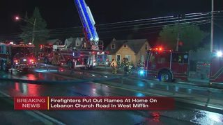 Firefighters knock down flames in West Mifflin home