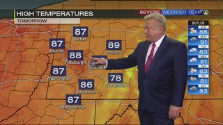 Hot, humid weekend on tap