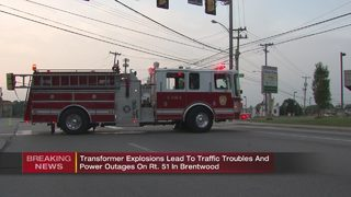 Exploding transformers, power lines on fire shuts down part of Route 51
