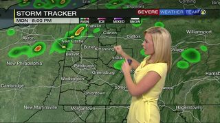 Scattered storms moving into the area Monday night