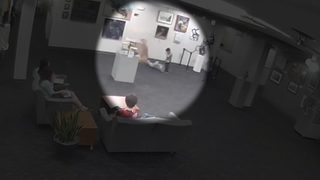 VIDEO: Child knocks over expensive sculpture