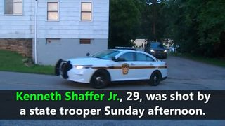 VIDEO: State troopers shoot man with saw blade