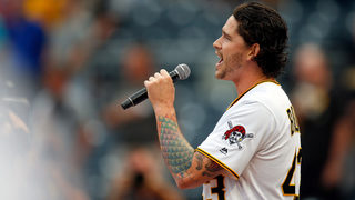 Pittsburgh Pirates pitcher knocks it out of the park with national anthem