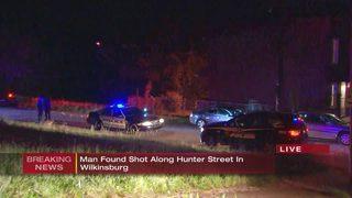 Man found shot along street