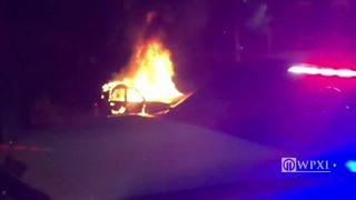 VIDEO: Car fire in Duquesne