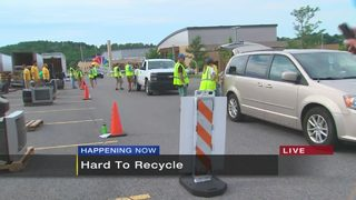 11 Cares Hard to Recycle Collections event at Bethel Park High School