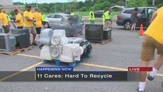 11 Cares Hard to Recycle event at Bethel Park High school