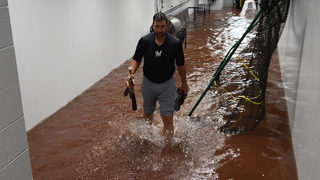 PNC Park dugout, tunnels flooded during heavy rains