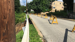 Partial road collapse causes restrictions in McKees Rocks