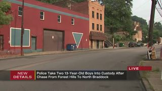 13-year-old boy leads police on chase in stolen car