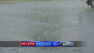 Scattered, heavy rain moving through the region