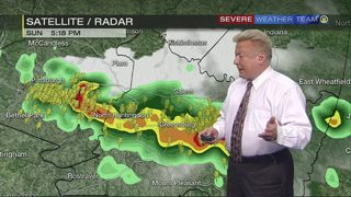 Severe storms trigger warnings in some counties
