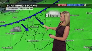 Showers, thunderstorms expected Tuesday