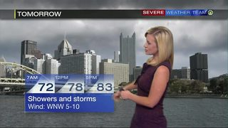 Humidity moves out later Tuesday