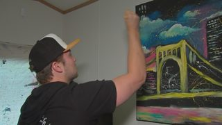 Pittsburgh speed painter focuses on local sports stars
