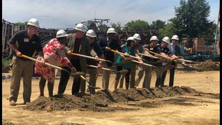 PHOTOS: Groundbreaking for new coaster at Kennwyood Park