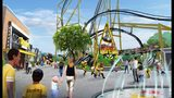 Artist renderings of the new Steelers Experience that's coming to Kennywood Park.