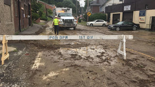 Water main break leaves road closed, customers without water