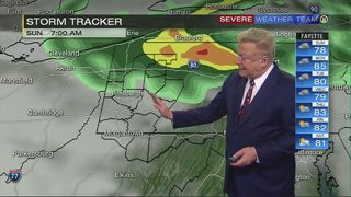 More frequent showers expected Sunday (7/21/18)