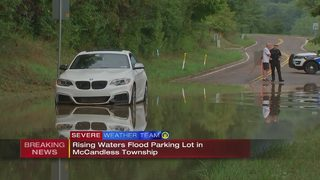Drivers caught in fast-rising waters in McCandless parking lot