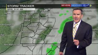 Rain possible in parts of the area Monday