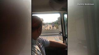 Beer truck drivers talk suicidal man off bridge