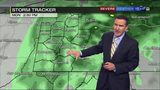 Tracking when steady rain will taper off to scattered showers (9/10/18)