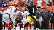 Ben Roethlisberger #7 of the Pittsburgh Steelers throws a pass in front of Larry Ogunjobi #65 of the Cleveland Browns during the second quarter at FirstEnergy Stadium on September 9, 2018 in Cleveland, Ohio. (Photo by Joe Robbins/Getty Images)