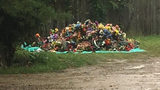 Piles of flags, flowers and sentimental pieces were found dumped in piles at a local cemetery.