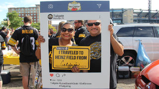 SPONSORED PHOTOS: Black and gold fans tailgate before game