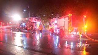 RAW VIDEO: House fire in Overbrook