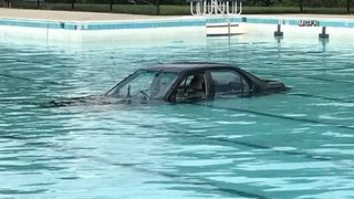 VIDEO: Driving lesson goes wrong, ends in pool
