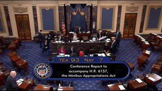 Senate moves to avoid shutdown, okays military, education, health spending
