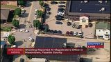 RAW VIDEO: 4 shot, including police officer, at Fayette Co. judge's office