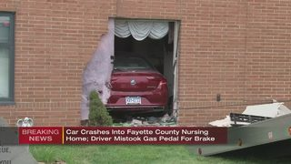 Car smashes into room at Fayette Co. nursing home