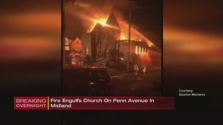 Massive fire badly damages church in Beaver County