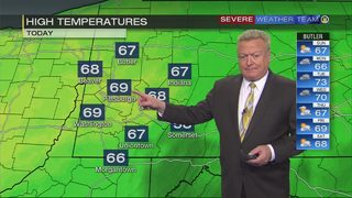Rain moves in Monday morning