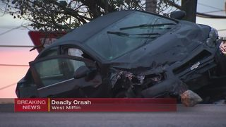 Fatal crash shuts down road in West Mifflin