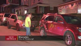 Several vehicles struck on Sheraden street