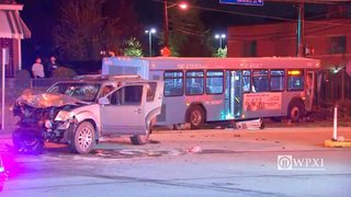 SUV crashes into Port Authority bus