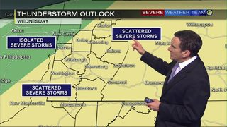 Severe storms possible Wednesday (9/25/18)