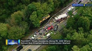PennDOT reviewing work zone after 2 school bus crashes