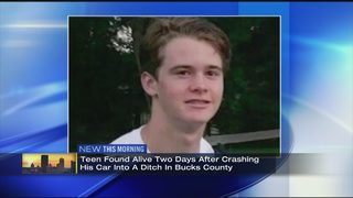 Pennsylvania teen found alive 2 days after crashing into ditch